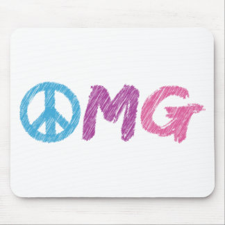 omg peace sign mouse pad