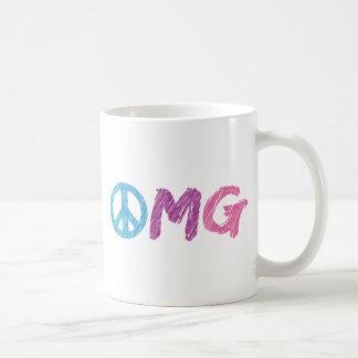 omg peace sign mug