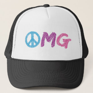 omg peace sign trucker hat