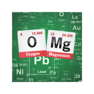 OMG periodic table ART Canvas Print