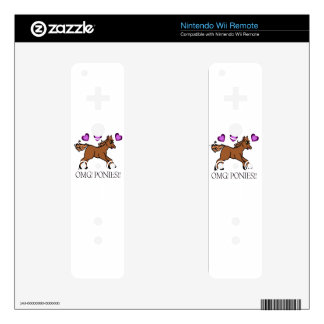 OMG PONIES!! DECAL FOR WII REMOTE