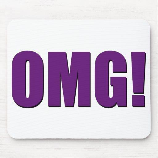 OMG! purple mousepad