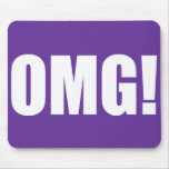 ¡OMG púrpura! mousepad (de la oscuridad) Tapete De Ratón