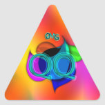 OMG! qq Triangle Stickers