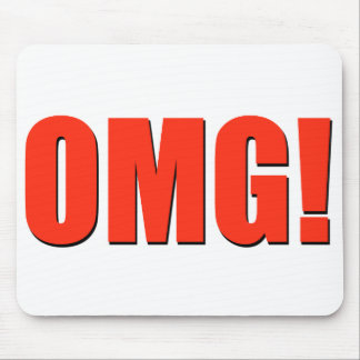 OMG! red mouse pad