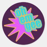 OMG Retro Stickers