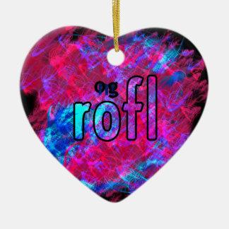 OMG! rofl Ceramic Ornament