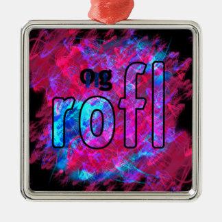 OMG! rofl Metal Ornament
