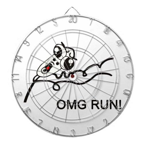 OMG run! - meme Dart Board