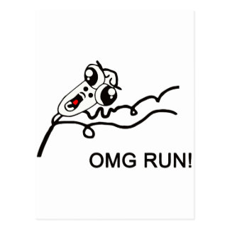 OMG run! - meme Postcard