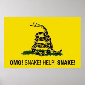¡OMG! ¡Serpiente! ¡Ayuda! ¡Serpiente! Póster