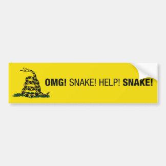 ¡OMG! ¡Serpiente! Pegatina para el parachoques Pegatina De Parachoque