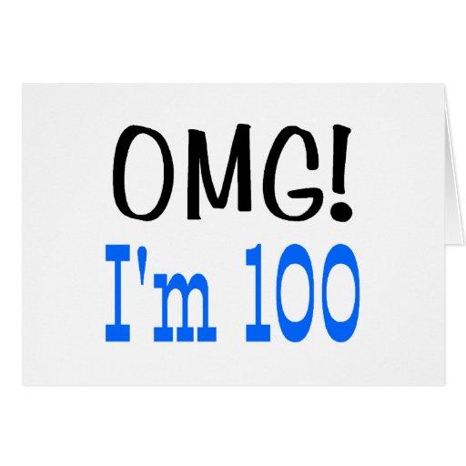 OMG soy 100 (el azul) Felicitación