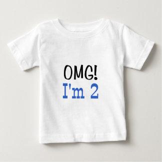 OMG soy 2 (el azul) Playera De Bebé