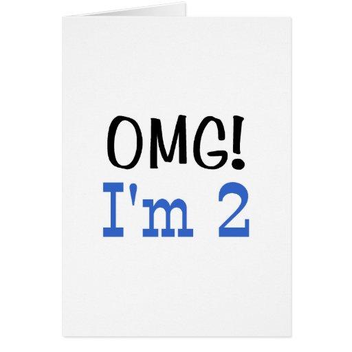 OMG soy 2 (el azul) Tarjetas