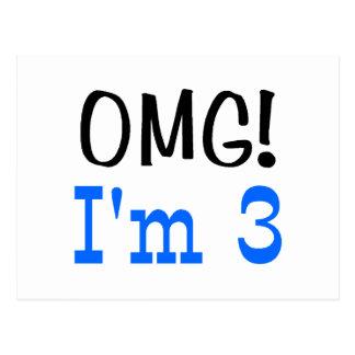 OMG soy 3 (el azul) Postales