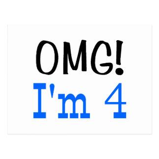 OMG soy 4 (el azul) Postal