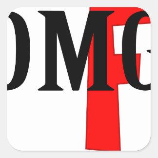 omg square sticker