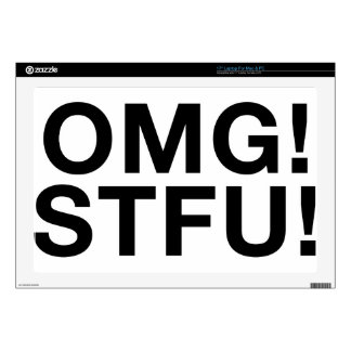 OMG! STFU! DECALS FOR LAPTOPS