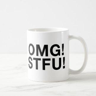 ¡OMG! ¡STFU! TAZA DE CAFÉ