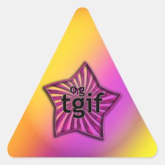 ¡OMG! tgif Pegatina Triangular