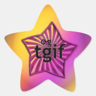 OMG! tgif Star Sticker