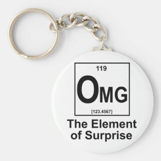 OMG The Element os Surprise Basic Round Button Keychain