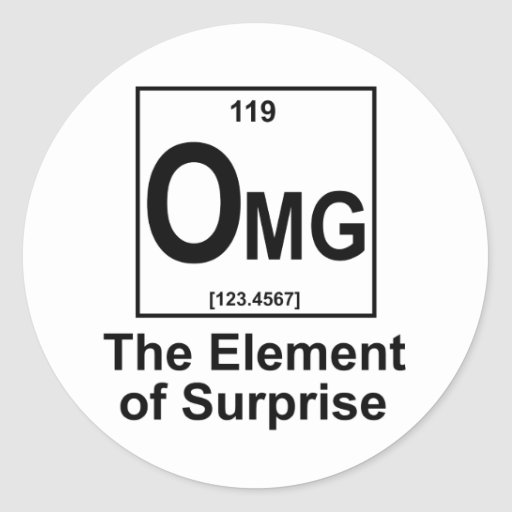 OMG The Element os Surprise Sticker