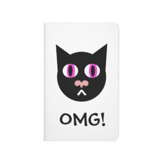 OMG Three Black Cat Journal