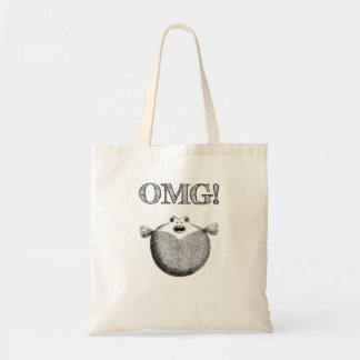 OMG Tote Bag with cute blow fish design
