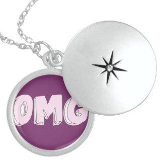 OMG Tumblr Doodle Sterling Silver Round Locket