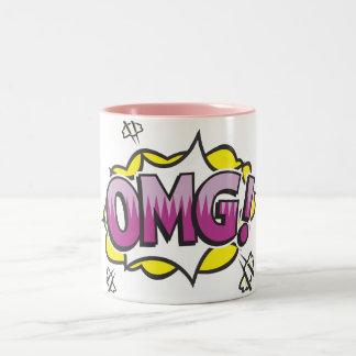 OMG! Two-Tone COFFEE MUG