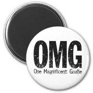 OMG: Un portero magnífico (hockey) Imán Redondo 5 Cm