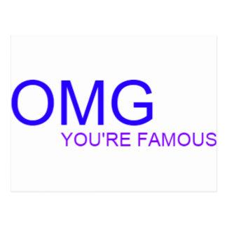 ¡OMG! ¡Usted es famoso! Postal