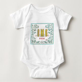 OMG . . . vintage styled graphic expression Baby Bodysuit