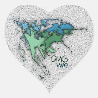 OMG! w/e Heart Sticker