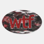 ¡OMG! wtf Calcomania Oval Personalizadas