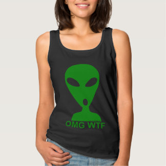 OMG WTF Funny Alien Tee Shirt