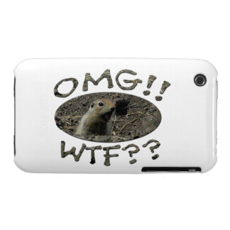 OMG WTF Gopher Case-Mate iPhone 3 Case