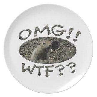 OMG WTF Gopher Dinner Plate