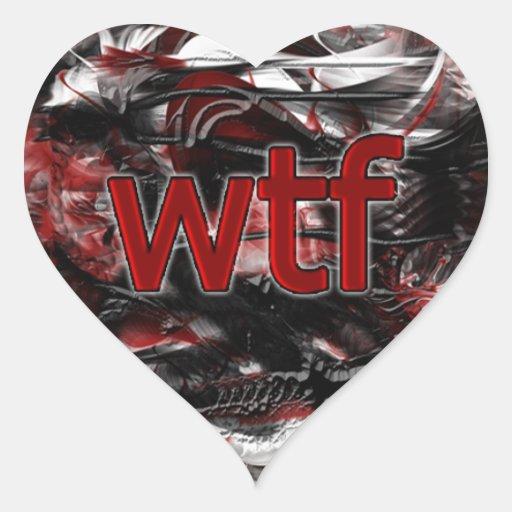 ¡OMG! wtf Pegatina En Forma De Corazón