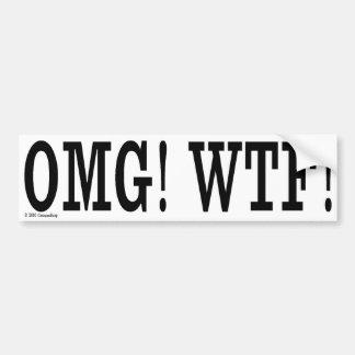 ¡OMG ¡WTF Pegatina para el parachoques Etiqueta De Parachoque