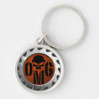 OMGN XBOX BO2 Elite clan Silver-Colored Round Keychain