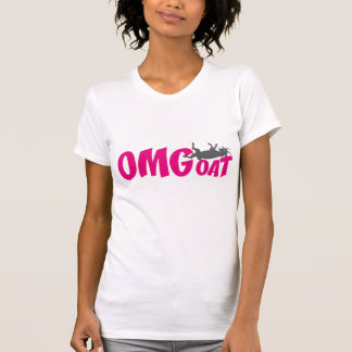 OMGoat Myotonic Goat the Goat Lovers OMG in Pink T-Shirt