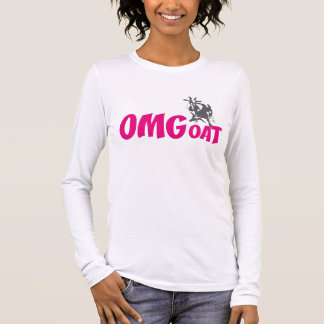OMGoat Pygmy Goat the Goat Lovers OMG in Pink Long Sleeve T-Shirt