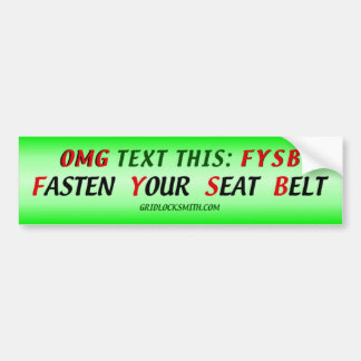 OMGtextFYSB Bumper Sticker