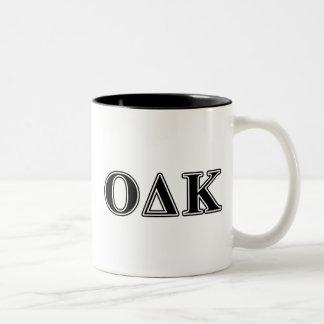 Omicron Kappa Delta Black Letters Mug
