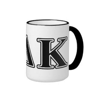 Omicron Kappa Delta Black Letters Mugs