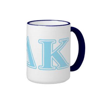 Omicron Kappa Delta Blue Letters Coffee Mug
