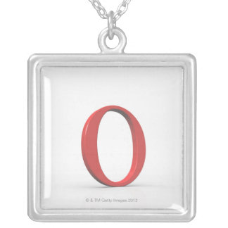 Omicron Silver Plated Necklace